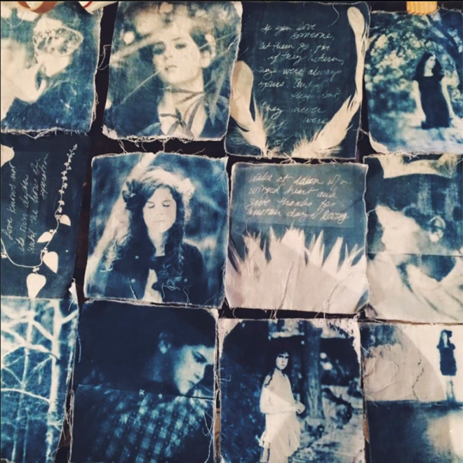 Cyanotype Prayer Flags by Laura Burlton