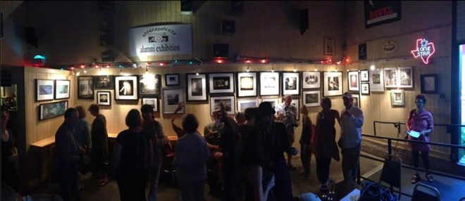 Opening of The shootapalooza Alumni Exhibition at Pecan Street Brewing in Johnson City. Photo by Marti Corn.